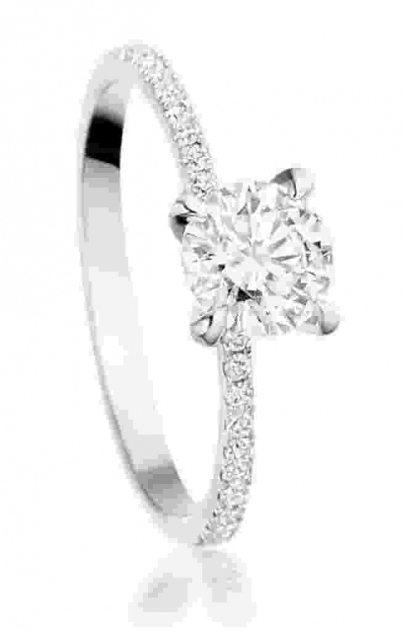 Amorette-Engagement-Ring-AC 35 Fascinating & Stunning Round Solitaire Engagement Rings