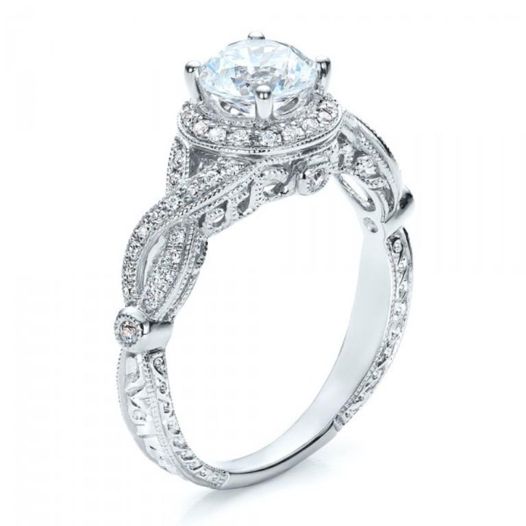 Antique-Criss-Cross-Shank-Engagement-Ring-Vanna-K-3Qtr-100072 35 Fabulous Antique Palladium Engagement Rings