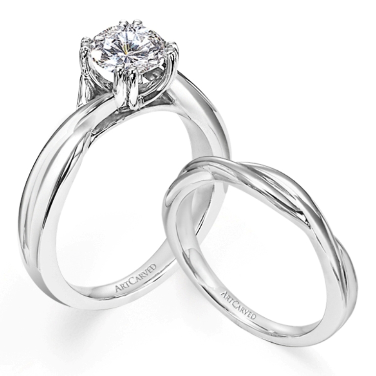 ArtCarved-Platinum-Bridal-Set-1 35 Dazzling & Catchy Bridal Wedding Ring Sets