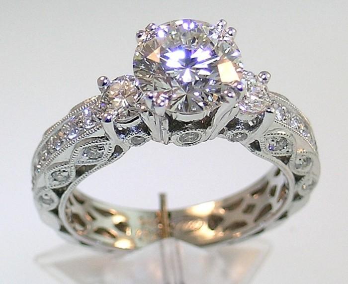 Ballard-Vintage-Diamond-Engagement-Ring 50 Unique Vintage Classic Diamond Engagement Rings