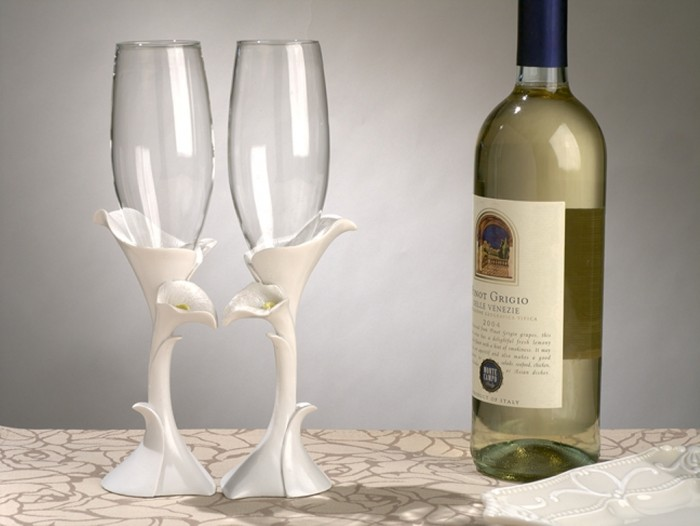 Calla-Lily-Toasting-Glasses_4039_r 35 Best Affordable & Catchy Bachelorette Party Gift Ideas