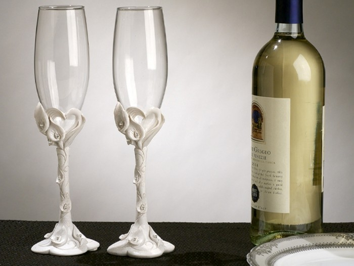 Calla-Lily-Toasting-Glasses_4043_r 35 Best Affordable & Catchy Bachelorette Party Gift Ideas