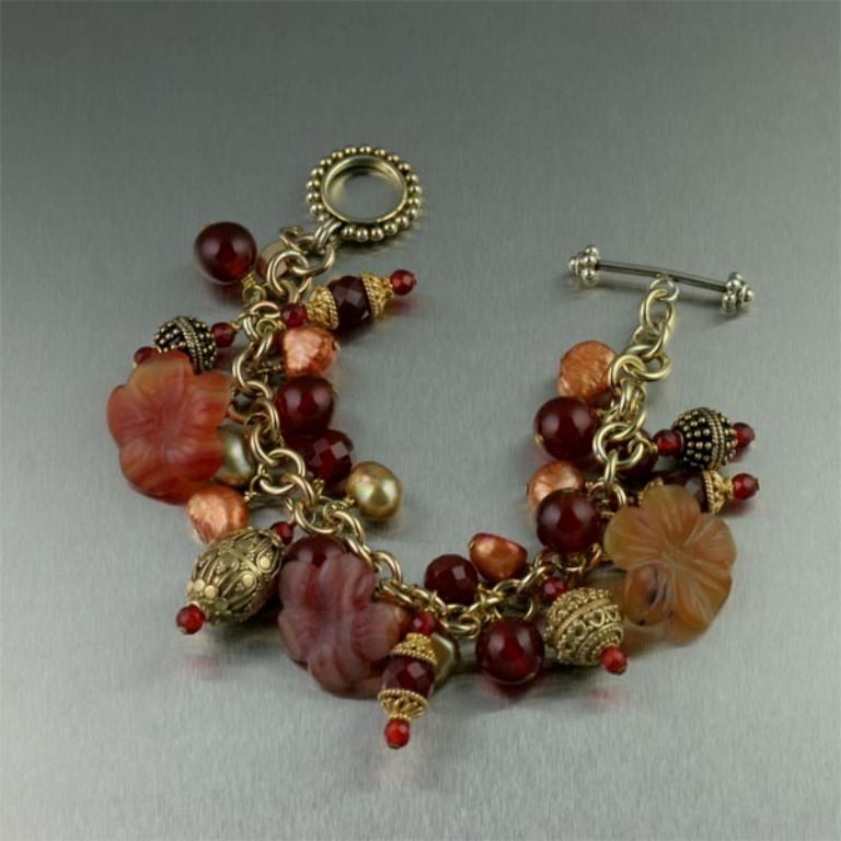 Carnelian-Vermeil-Bracelet 65 Fabulous & Stunning Handmade Beaded Gemstone Jewelries