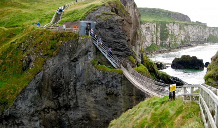 Carrick-a-Rede_Rope_Bridge The World's 15 Scariest Bridges that Will Freeze Your Heart