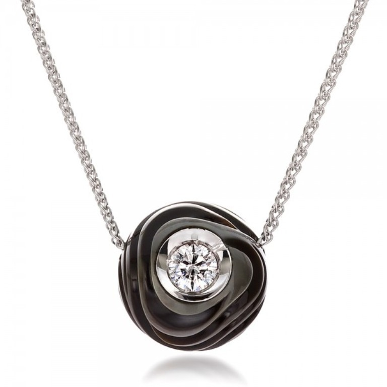 Carved-Tahitian-Pearl-and-Diamond-Pendant-front-100324 50 Unique Diamond Necklaces & Pendants