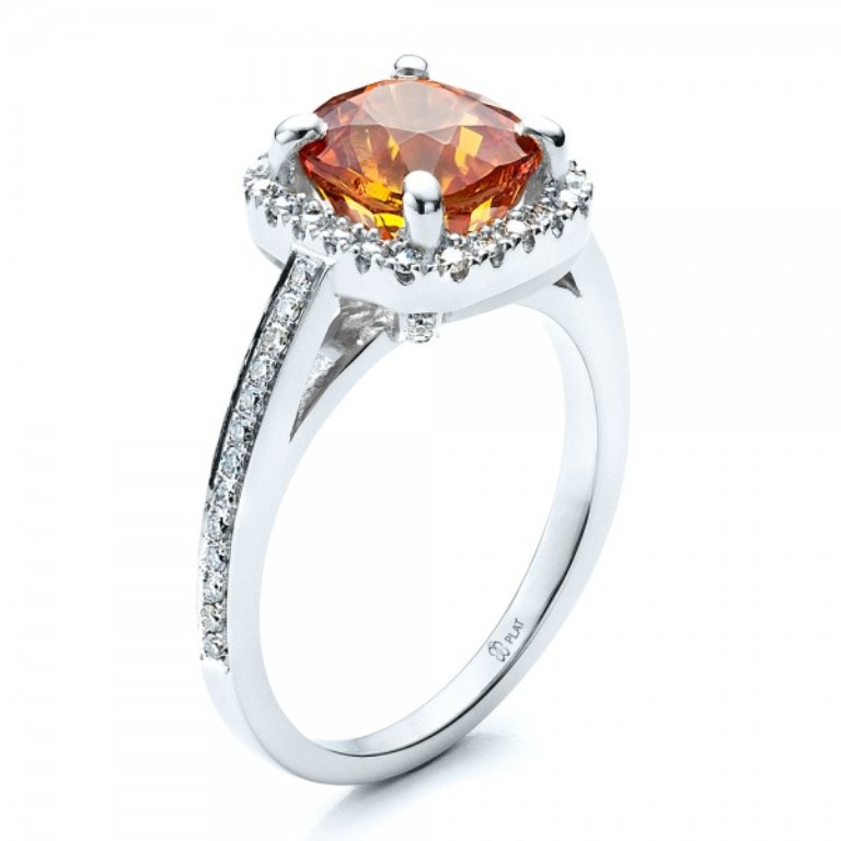 Custom-Diamond-and-Orange-Sapphire-Engagement-Ring-3Qtr-14521 40 Elegant Orange Sapphire Rings for Different Occasions