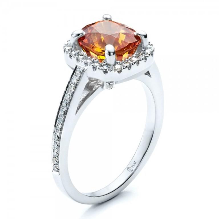 Custom-Diamond-and-Orange-Sapphire-Engagement-Ring-3Qtr-14521 40 Elegant Orange Sapphire Rings for Different Occasions