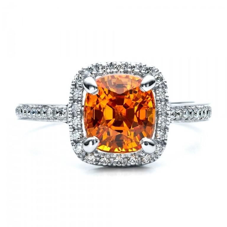 Custom-Diamond-and-Orange-Sapphire-Engagement-Ring-top-14521 40 Elegant Orange Sapphire Rings for Different Occasions