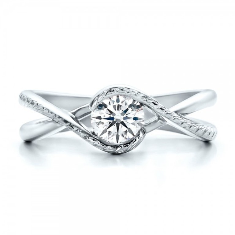Custom-Hand-Engraved-Diamond-Solitaire-Engagement-Ring-top-100791 35 Fabulous Antique Palladium Engagement Rings