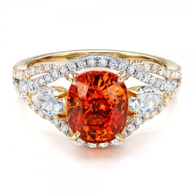 Custom-Orange-Sapphire-Engagement-Ring-flat-1001171 40 Elegant Orange Sapphire Rings for Different Occasions