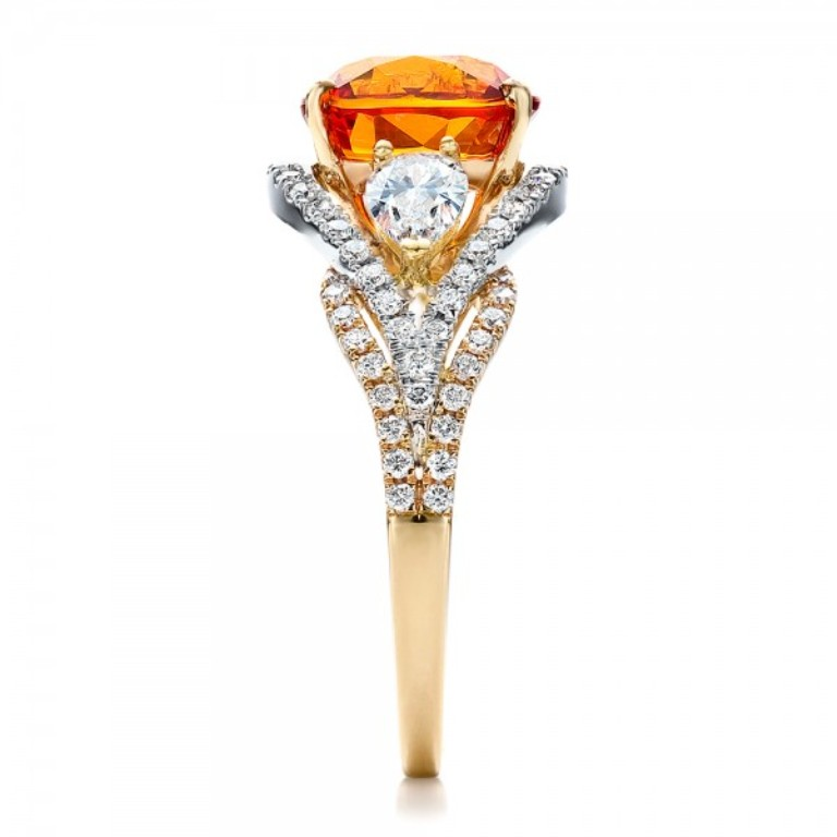 Custom-Orange-Sapphire-Engagement-Ring-side-1001171 40 Elegant Orange Sapphire Rings for Different Occasions