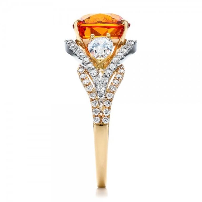 Custom-Orange-Sapphire-Engagement-Ring-side-1001171 40 Elegant Orange Sapphire Rings for Different Occasions