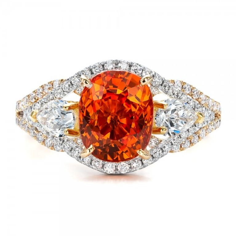 Custom-Orange-Sapphire-Engagement-Ring-top-1001171 40 Elegant Orange Sapphire Rings for Different Occasions