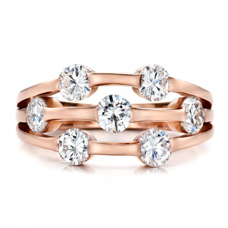 Custom-Rose-Gold-and-Diamond-Engagement-Ring-top-100249 Top 60 Stunning & Marvelous Rose Gold Wedding Bands