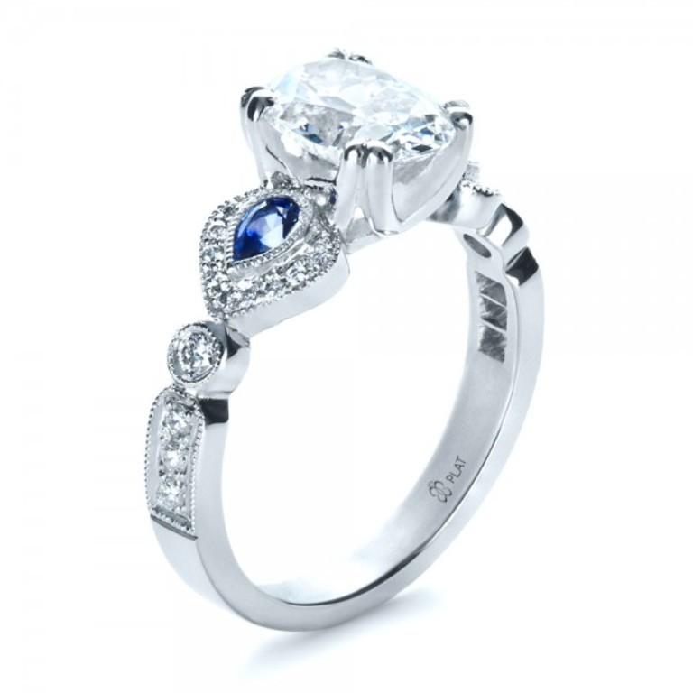 Custom-Three-Stone-Engagement-Ring-3Qtr-1399 60 Magnificent & Breathtaking Colored Stone Engagement Rings