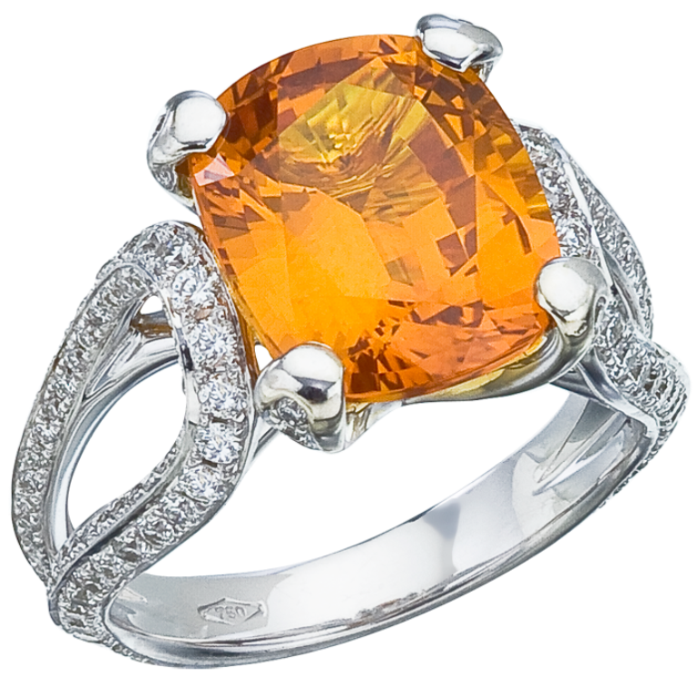 DC104 40 Elegant Orange Sapphire Rings for Different Occasions