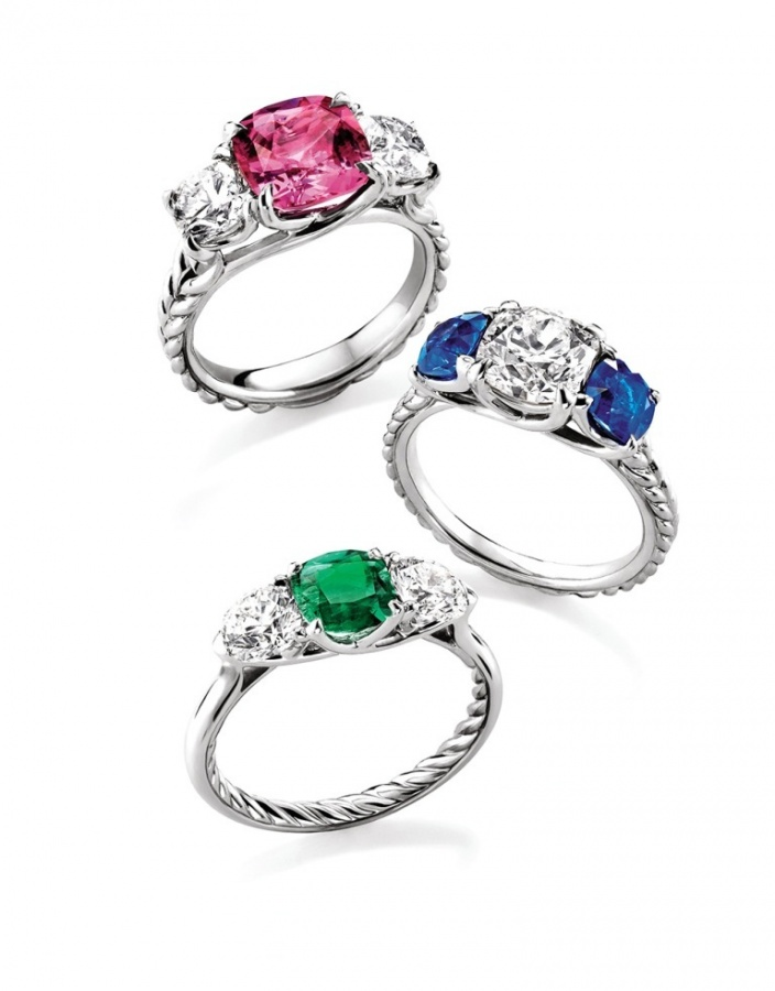DYColoredStoneEngagementRingUSE 60 Magnificent & Breathtaking Colored Stone Engagement Rings
