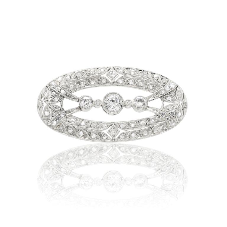 Diamond-Pin 35 Elegant & Wonderful Antique Diamond Brooches