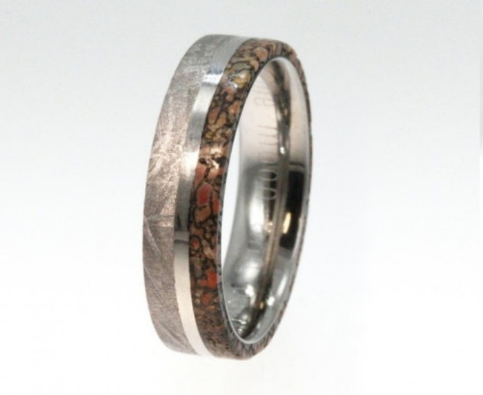 Dinosaur-Bone-Wedding-Ring 40 Unique & Unusual Wedding Rings for Him & Her