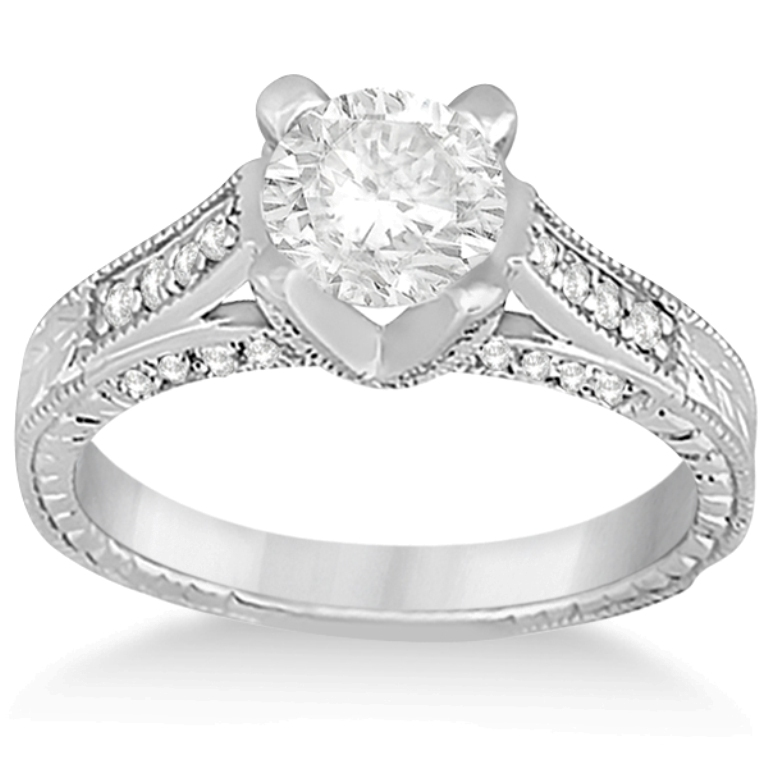 ENS1016-A-PM 35 Fabulous Antique Palladium Engagement Rings