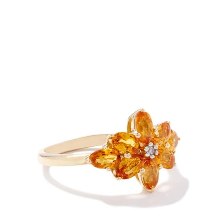 FDPS391 40 Elegant Orange Sapphire Rings for Different Occasions