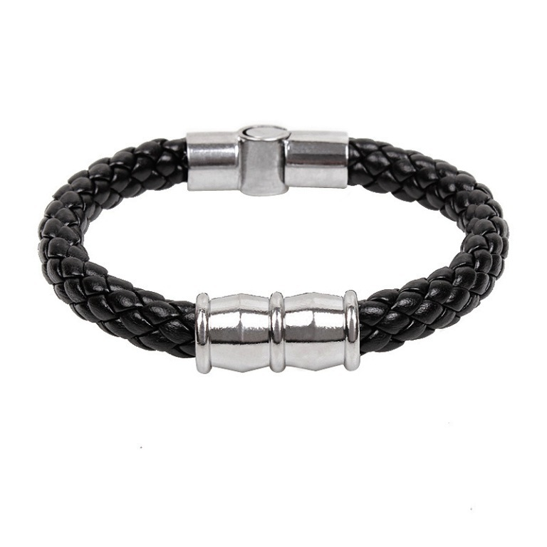 Fashion-jewelry-handmade-men-s-titanium-steel-bracelet-snake-punk-style-font-b-leather-b-font 40 Elegant & Catchy Handmade Men's Jewelry