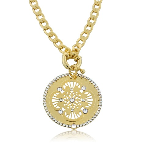 Filigree-Disk-Golden-Jeweled-Necklace-by-LK-Designs_large-475x475 How To Choose The Right Necklace For Your Dress?