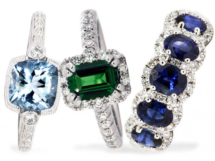 GemstoneRings 60 Magnificent & Breathtaking Colored Stone Engagement Rings