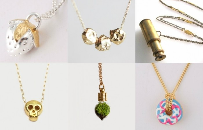 Goodstead-collage 30 Non-traditional & Unusual Gold Necklaces