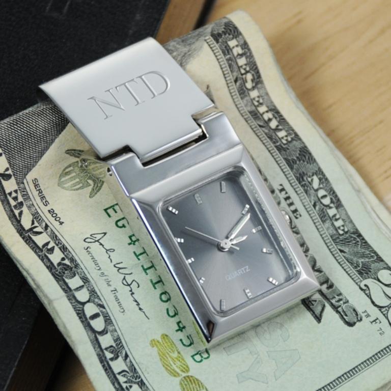 Graphite-Face-Watch-Money-Clip Best 35 Money Clips for Men