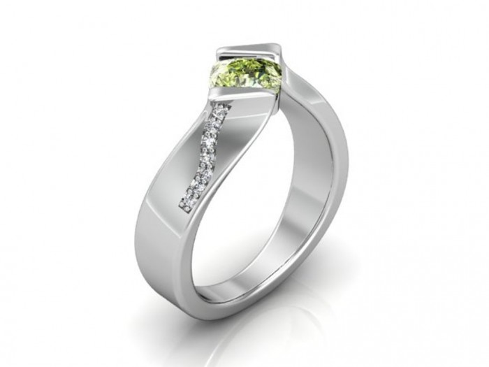 Green-Diamonds-and-Green-Cushion-Diamonds-1 30 Fascinating & Dazzling Green diamond rings