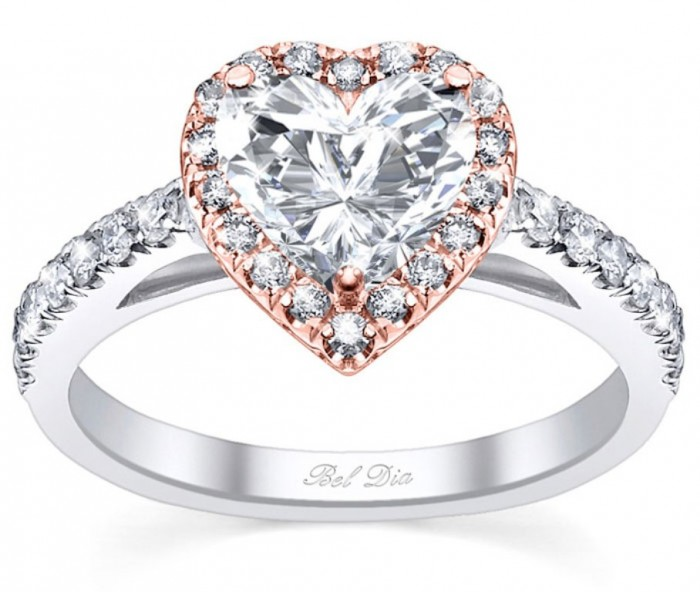 Heart-Shaped-Halo-Engagement-Rings-Rose-Gold Top 70 Dazzling & Breathtaking Rose Gold Engagement Rings