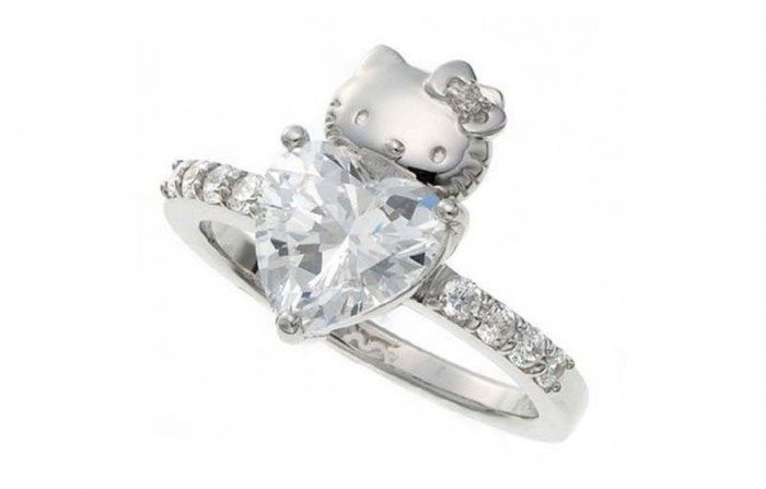 Hello-Kitty-ring 40 Unique & Unusual Wedding Rings for Him & Her