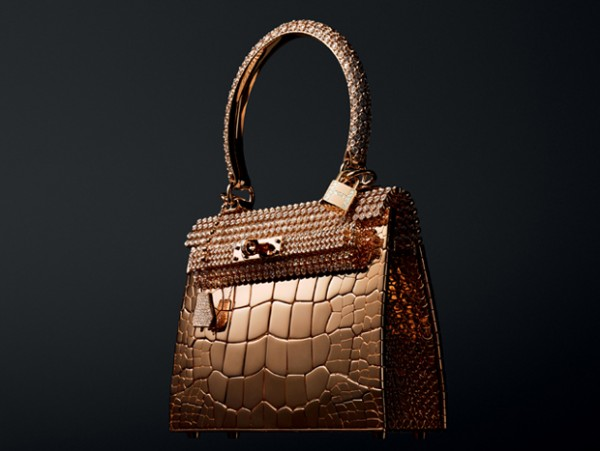 Hermes-Rose-Gold-Kelly-Bag 69 Most Expensive Diamond Purses in The World