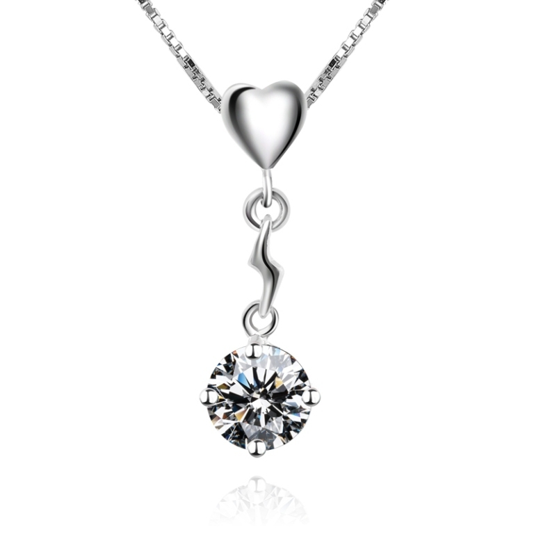 High-simulation-diamond-pendant-necklace-clavicle-chain-birthday-gift-925-silver-love-pendant-necklace-gift-girlfriend 50 Unique Diamond Necklaces & Pendants