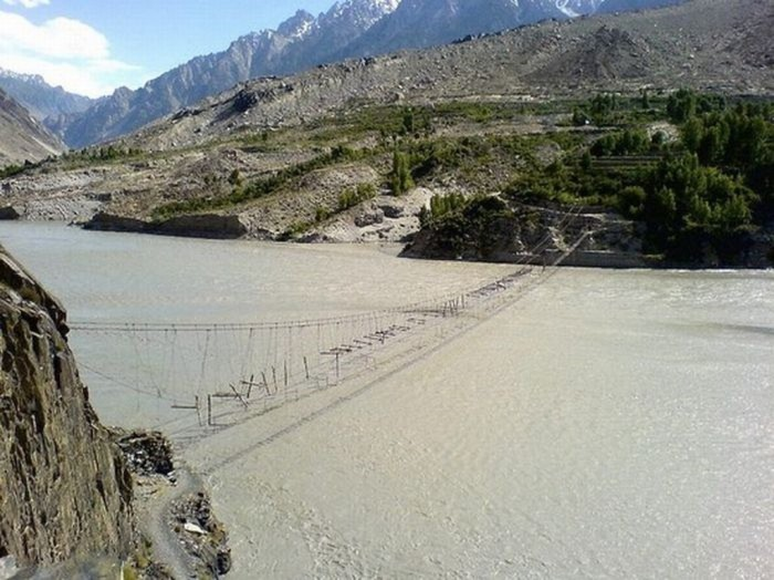 Hussaini-Hanging-Bridge The World's 15 Scariest Bridges that Will Freeze Your Heart