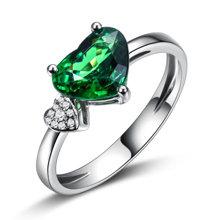 ILSOMMO-BRAND-NATURAL-FINE-CERTIFIED-1-644-CT-font-b-GREEN-b-font-font-b-GARNET 30 Fascinating & Dazzling Green diamond rings