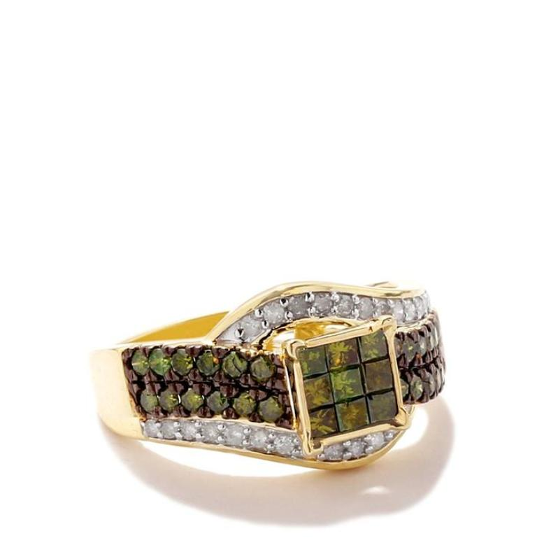 ISFJ60 30 Fascinating & Dazzling Green diamond rings
