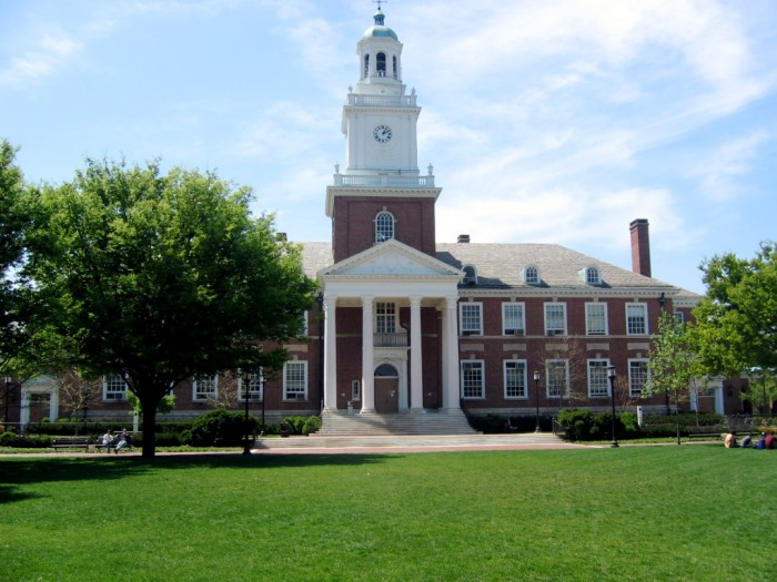 JHU_Gilman_Hall Top 10 Government & Private Medical Colleges in USA