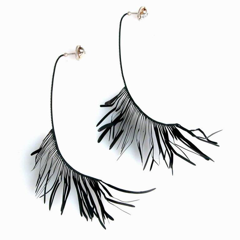 Jivetin+-+Earrings+made+from+Watch+Hands+and+Silver+Posts1 45 Unusual and Non-traditional Earrings