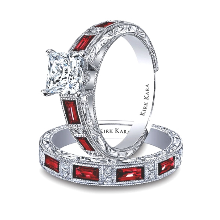 KARA-SS6685R-R 60 Magnificent & Breathtaking Colored Stone Engagement Rings