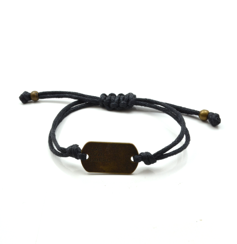 Live-Love-Laugh-Bracelet-in-Black1 Show Your Endless Love to Your Lover with These Unique Cuffs & Bracelets of Love