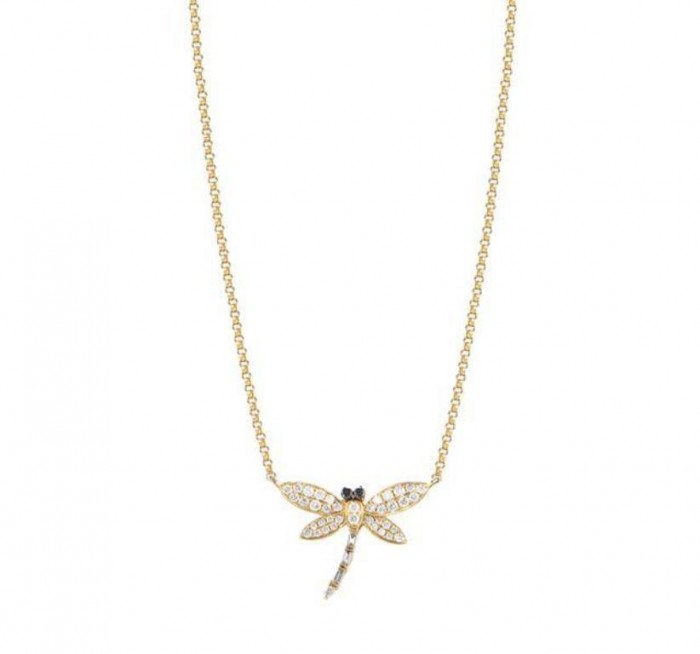 MJ-Precious-Petites-Diamond-Gold-Dragonfly-Pendant-L1070571DN10500 50 Unique Diamond Necklaces & Pendants