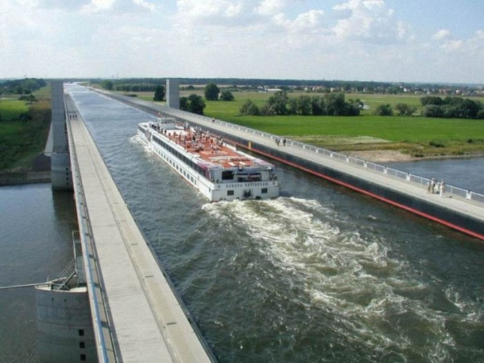 Magdeburg-Water-Bridge-2 Have You Ever Seen Breathtaking & Weird Bridges Like These Before?