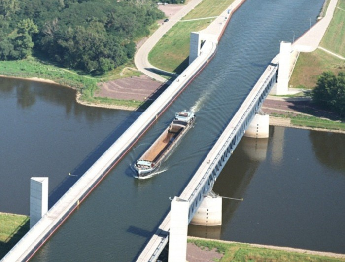 Magdeburg-Water-Bridge Have You Ever Seen Breathtaking & Weird Bridges Like These Before?