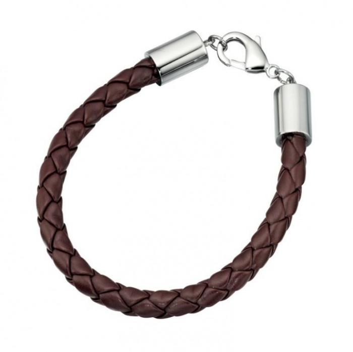 Mans-Leather-Bracelet-Brown-CNB3601Br 40 Elegant & Catchy Handmade Men's Jewelry