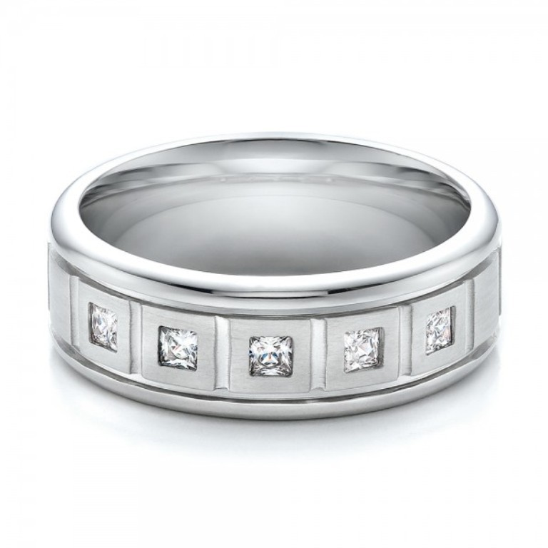 Mens-Diamond-Wedding-Band-flat-100179 60 Breathtaking & Marvelous Diamond Wedding bands for Him & Her