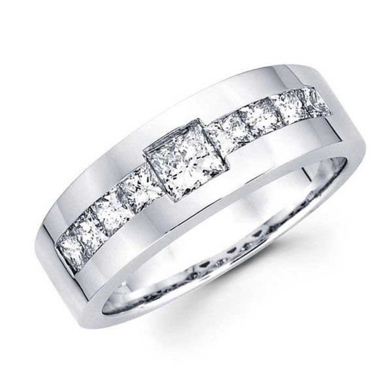 Mens-Diamond-Wedding-Rings 60 Breathtaking & Marvelous Diamond Wedding bands for Him & Her