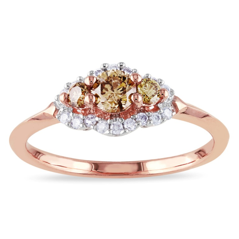 Miadora-10k-Rose-Gold-1-2ct-TDW-Brown-and-White-Diamond-Engagement-Ring-948a8680-6ed0-4b07-b94a-3f2a23a9b465_600 Top 70 Dazzling & Breathtaking Rose Gold Engagement Rings