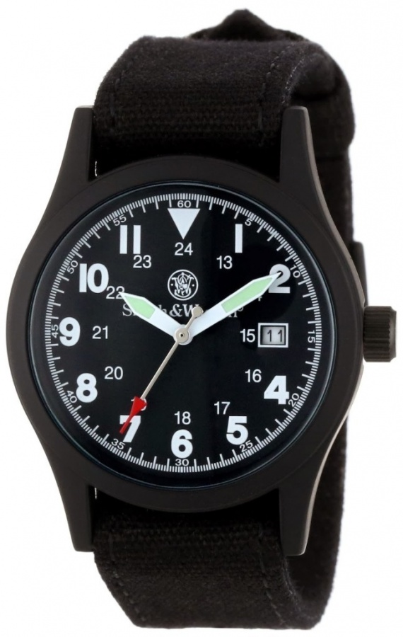 Military-Watches-Smith-Wesson-SWW-1464-BLK-Military-Multi-Canvas-Straps-Watch-for-Men Best 35 Military Watches for Men